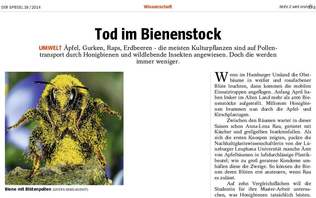 2014 professur f r naturschutz und landschafts kologie for Der spiegel archiv